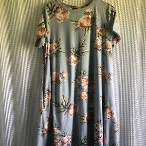 Blue and Floral Dress
